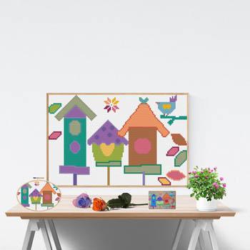 Bird House-Susanamm Cross Stitch-