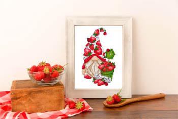 Gnome Aux Fraises (Strawberry Gnome)-Les Petites Croix De Lucie-