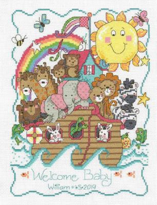 Noah's Ark Birth Announcement-Imaginating-