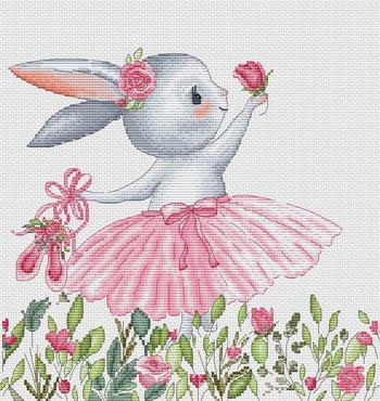Bunny In Wildflowers-Les Petites Croix De Lucie-