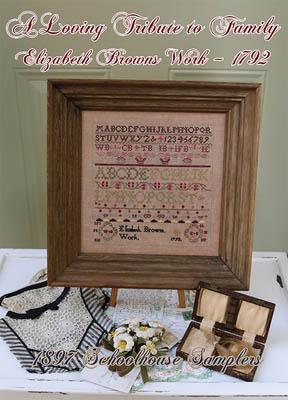 Loving Tribute To Family - Elizabeth Brown's Work 1792-1897 Schoolhouse Samplers-