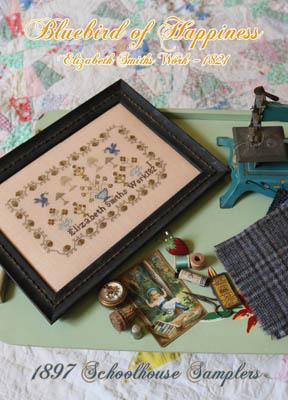 Bluebird Of Happiness - Elizabeth Smiths Work 1821-1897 Schoolhouse Samplers-