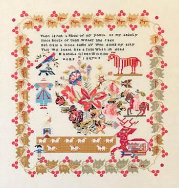 Hannah Greenwood 1847-Queenstown Sampler Designs-