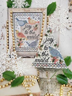 Fourth Day Of Christmas Sampler & Tree-Hello From Liz Mathews-