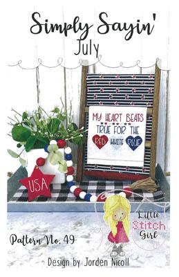 Simply Sayin'-July-Little Stitch Girl-