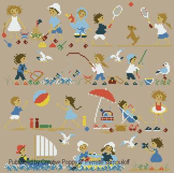 Happy Childhood-Seaside-Perrette Samouiloff-