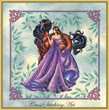 Genevieve-Cross Stitching Art-