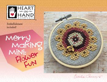 Merry Making Mini-Flower Fun-Heart In Hand Needleart-