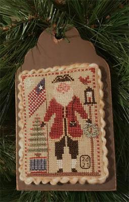 Flag Waving Santa-2021 Santa Ornament-Homespun Elegance-
