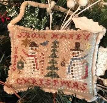 Snow Happy-2021 Snowman Ornament-Homespun Elegance-