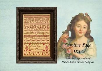 Caroline Page 1832-Hands Across The Sea Samplers-