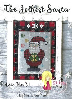Jolliest Santa-Little Stitch Girl-
