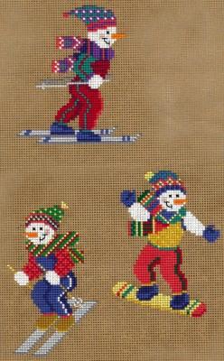 Sporty Snowman Ornaments I-Imaginating-