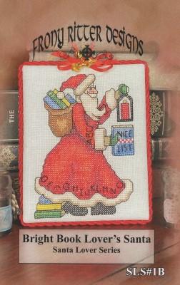 Bright Book Lover's Santa-Frony Ritter Designs-