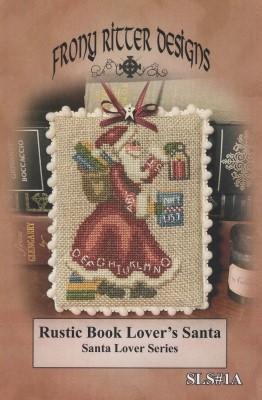 Rustic Book Lover's Santa-Frony Ritter Designs-