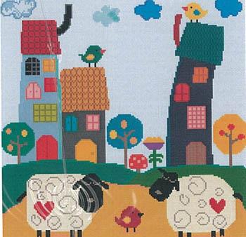 Ewes And Friends-Susanamm Cross Stitch-